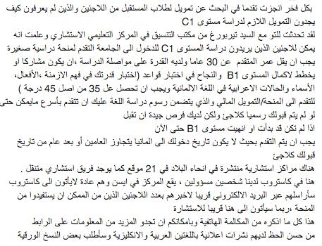 Garantiefonds Hochschule Arabisch