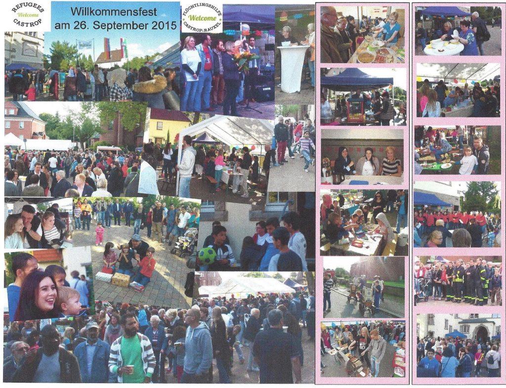 Willkommensfest Collage 2015 Castrop